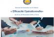 Session de formation sur le thème : «Efficacité Opérationnelle»